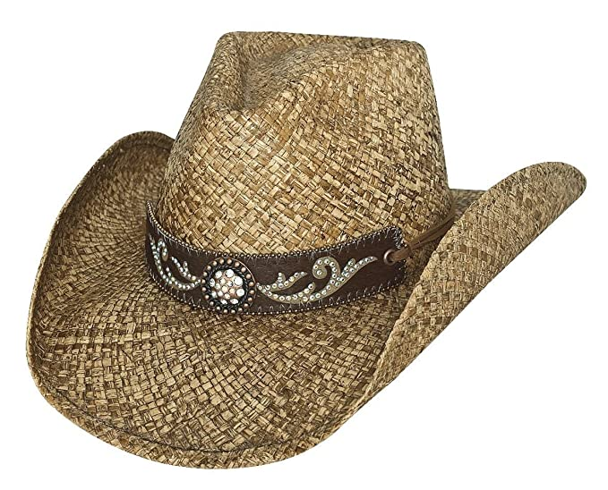 Amazon.com  Bullhide Tennessee River Western Straw Hat 2794  Clothing f5926f9034a2