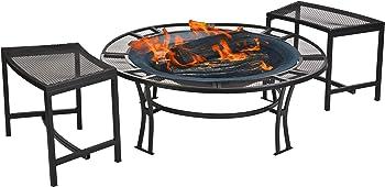 CobraCo Steel Mesh Rim Fire Pit Set