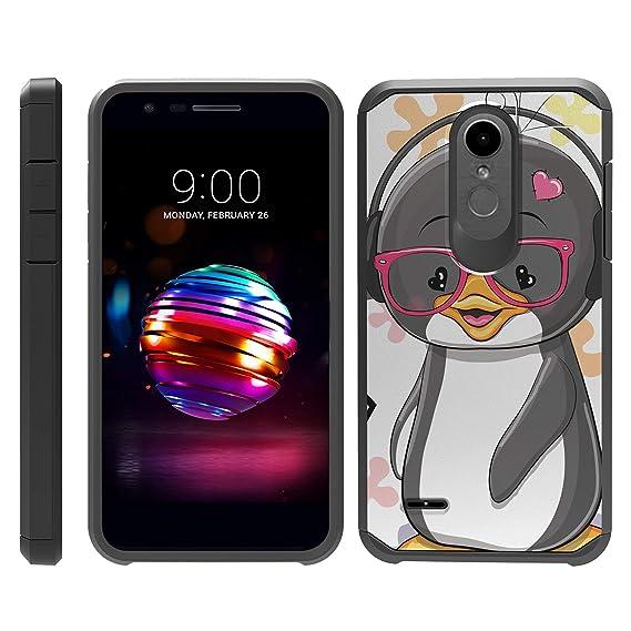 info for fda48 7ba36 TurtleArmor | Compatible for LG K30 Case | LG Premier Pro Case | K10 (2018)  | Shockproof Hybrid Armor Slim Case Sea Ocean Design - Cute Penguin