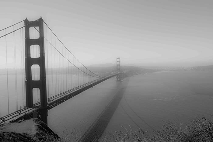Amazon Com San Francisco Golden Gate Bridge Black And White
