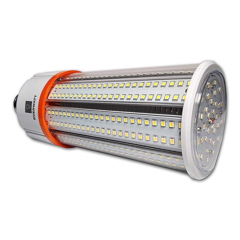 60W LED Corn Light Bulb, Standard E26 Base, 8115 Lumens, 5000K, IP64 Waterproof Outdoor Indoor Area Lighting, Replacement for Metal Halide HID, CFL, HPS by EverWatt