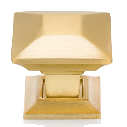 Southern Hills Satin Gold Cabinet Knobs   Pack Of 5   Brushed Brass    1.25u0026quot;