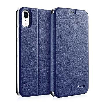 doupi Deluxe FlipCover para iPhone XR (iPhone 10r) 6,1 Pulgada Carcasa Case magnético Funda Caso tirón Estilo Libro Protector de Cuero Artificial, ...