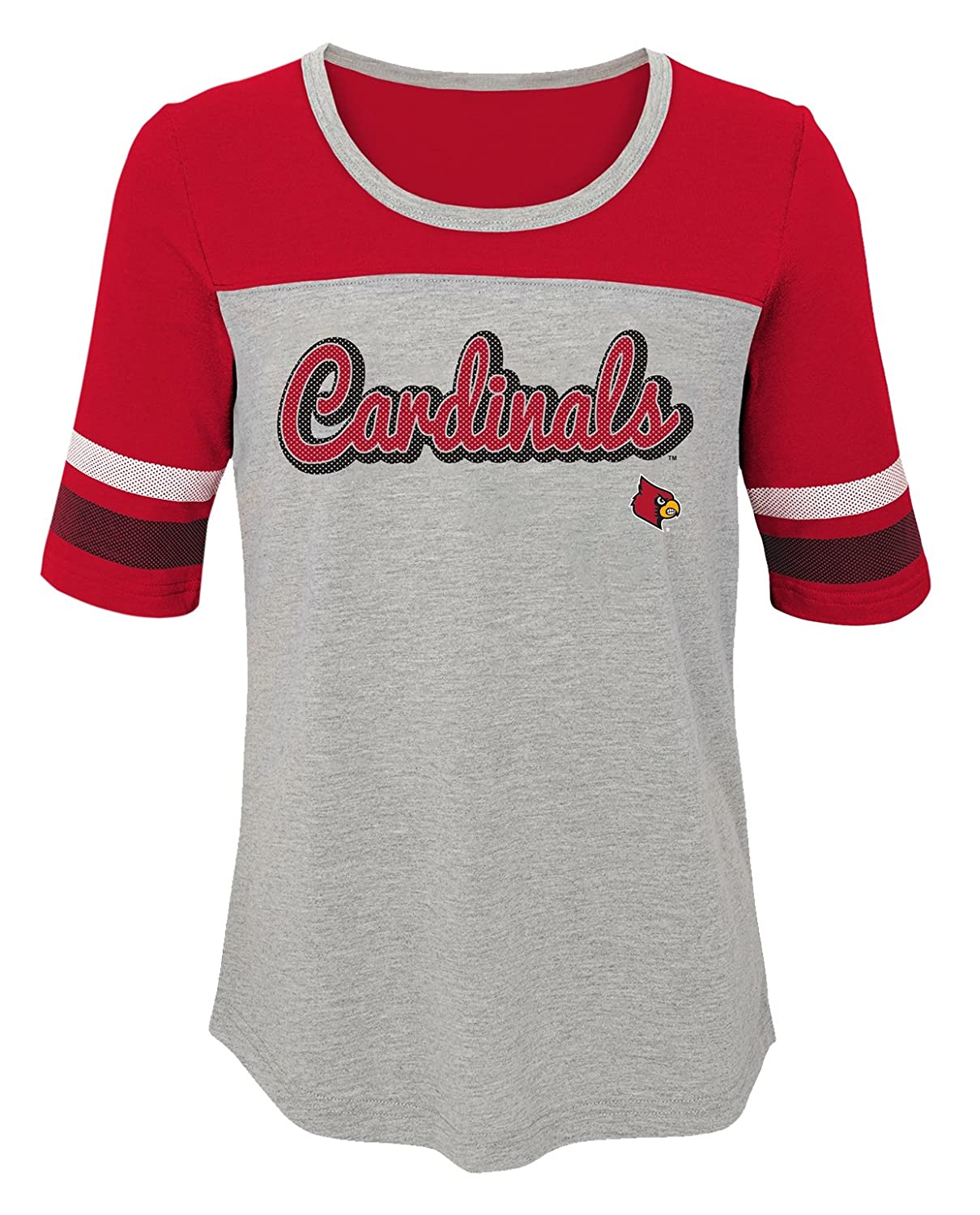 Youth Small 7-8 Dark Red NCAA by Outerstuff NCAA Louisville Cardinals Youth Girls Fan-Tastic Short Sleeve Tee