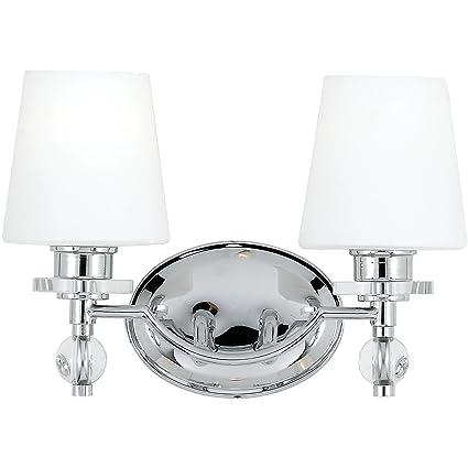 Quoizel HS8602C Hollister 2-Light Bath Light, Polished Chrome ...