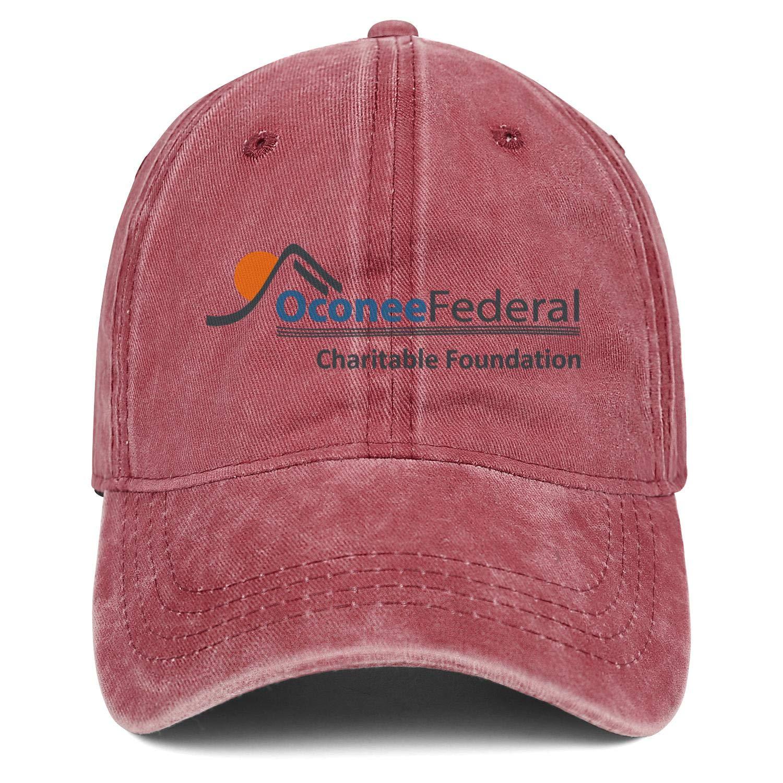 SU8TD Mens Womens Hat Oconee Federal Logo Snapback Hats Fishing Cowboy Cap Adult Caps