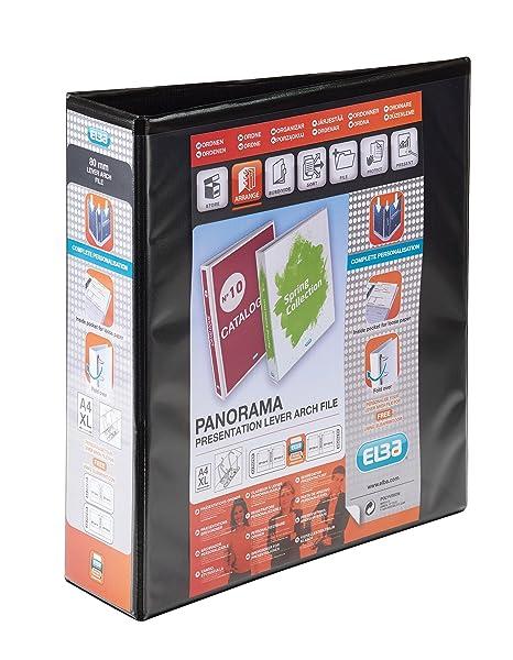 Elba Panorama - Paquete de 5 carpetas para archivo, multicolor: Amazon.es: Oficina y papelería