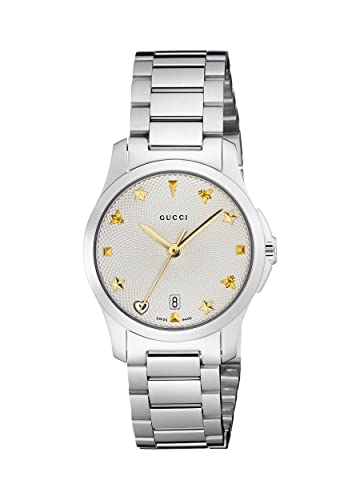 367b838441d Gucci Womens Analogue Classic Quartz Watch with Stainless Steel Strap  YA126572  Amazon.co.uk  Watches