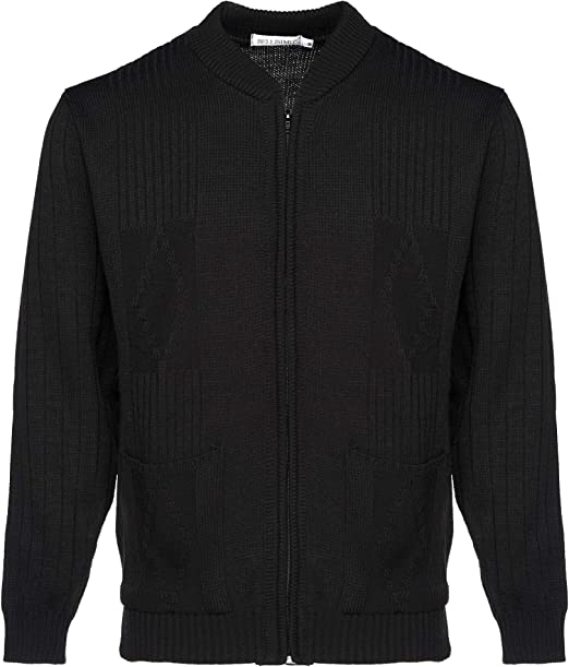 Free Postage BRAND NEW RRP£24.99 Burgundy Mens Zip Knitted Cardigan Size M