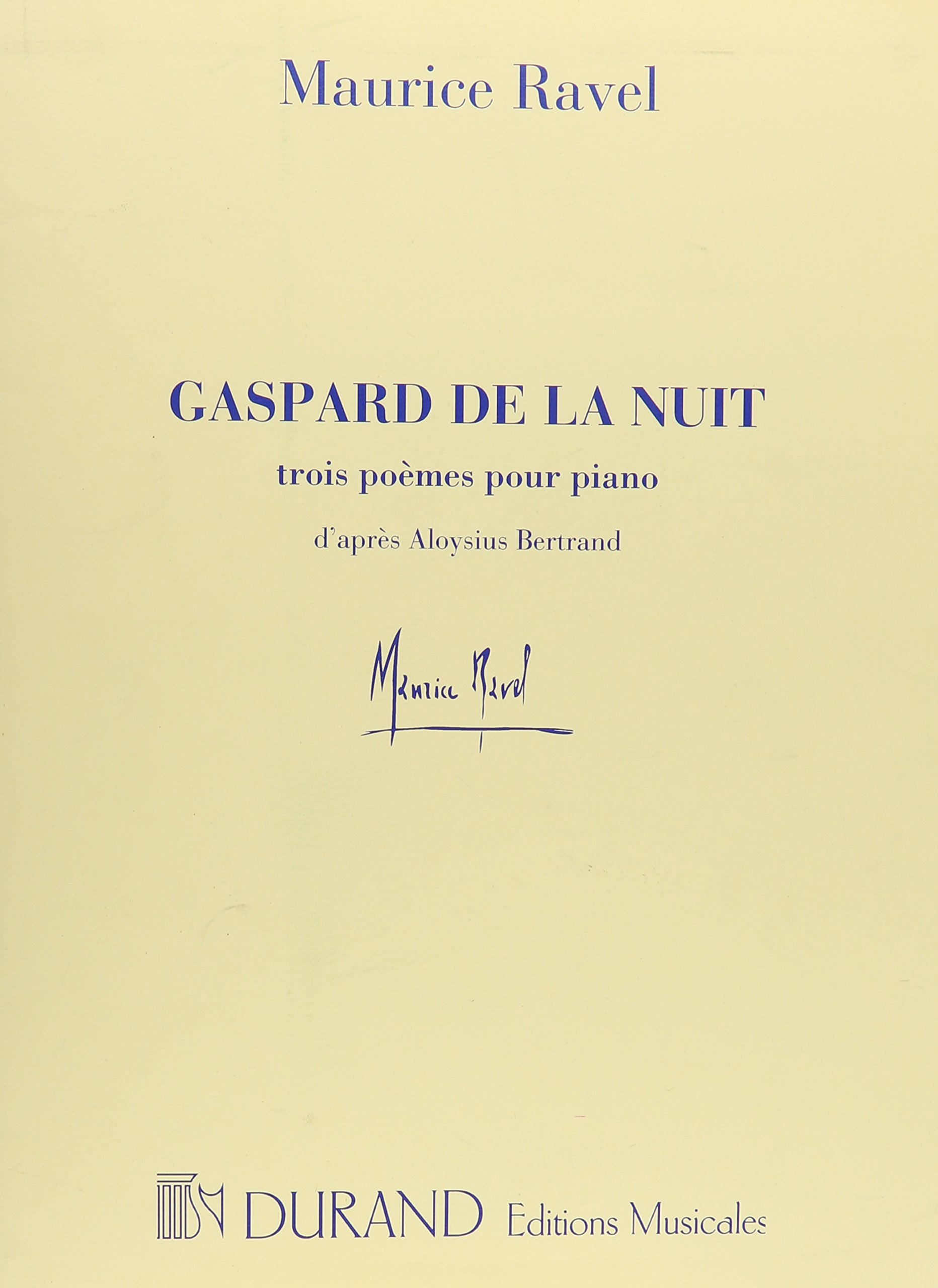 Download Gaspard De La Nuit: 3 Poemes Pour Piano pdf epub