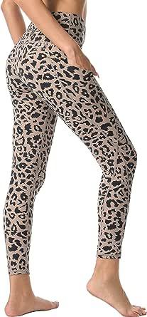 Rocorose Women's Yoga Pants High Waist with Pockets Tummy Control 4 Way Stretch Workout Yoga Leggings