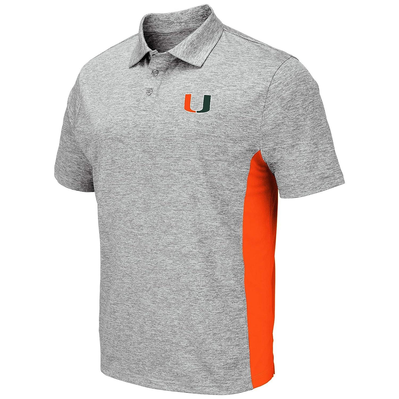 Colosseum Mens NCAA-Driven-Golf//Polo Shirt-Heather Grey Twist
