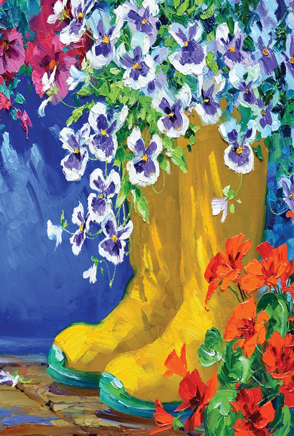"""Toland Home Garden 109994 Boots and Blossoms 28 x 40 Inch Decorative, House Flag-28"""" x40"""""""