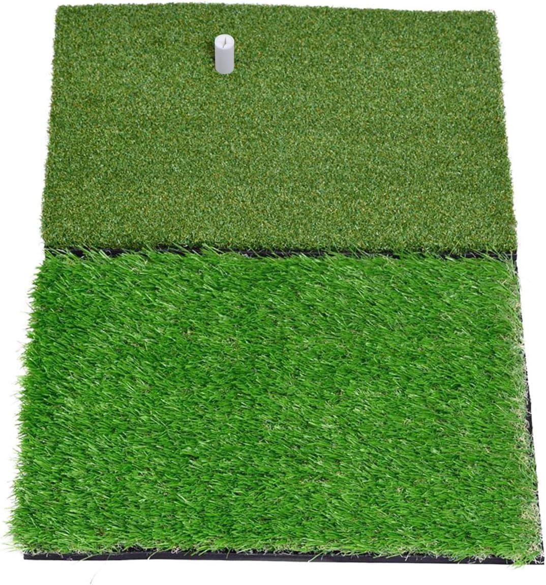 SkyLife Dual-Turf Golf Hitting Grass Mat, Portable Training Fairway Rough Turf, Driving Chipping Golf Equipment, Home Backyard Garage Outdoor Practice