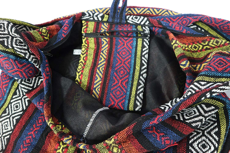 PumPumpZ Hippie Boho Crossbody Bohemian Gypsy Sling Shoulder Bag Handwoven Ikat Medium Size.