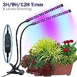 Lámpara LED Plantas, Eyeco 18W 40 LED lámpara de Crecimiento de Crecimientocon 360° Ajustable Cuello de Cisne, Temporizador de 3 Modos, 8 Niveles para Cultivo de Plantas y Flores