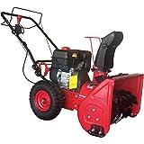 PowerSmart DB7622H Gas Snow Thrower, red, Black