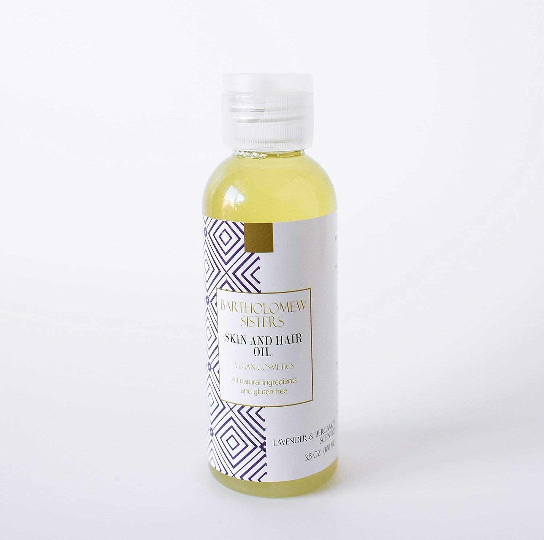 Handmade Natural Vegan Skin and Hair Oil - Bergamot and Lavender Oil, 100 ml / 3.5 oz