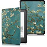 Dteck Case for All-New Kindle 10th Generation 2019 Release - Lightweight Slim Shell Protective Cover with Auto Wake/Sleep for Amazon Kindle E-Reader [Not Fit Kindle Paperwhite] - Blossom