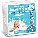 Babysom - Protège Matelas/Alèse Bébé - Anti acarien - 60x120 cm - Imperméable - Bouclette 100% Coton - Souple et Silencieux - Respirant