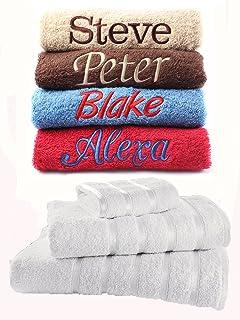 Personalizado Bordado toallas Ideal regalo de cualquier nombre, toalla para la cara, toalla de mano, toalla de baño |…