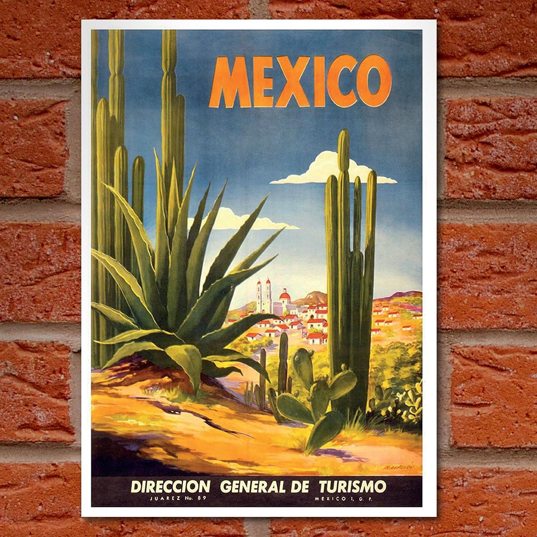 Vintage Mexico Tourism Poster 3 A3//A4 Print