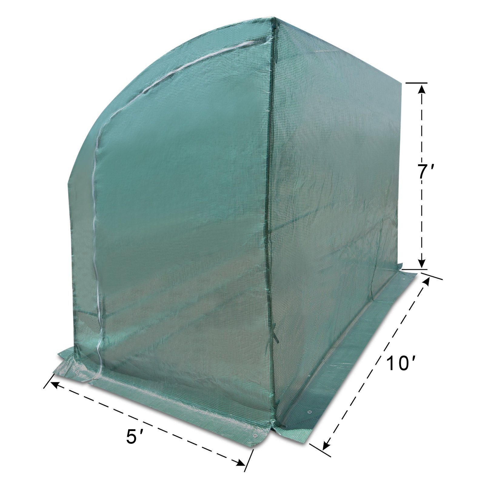 Strong Camel New Large Walk-in Wall Greenhouse 10x5x7'H w 3 Tiers/6 Shelves Gardening (Green) by Strong Camel (Image #4)