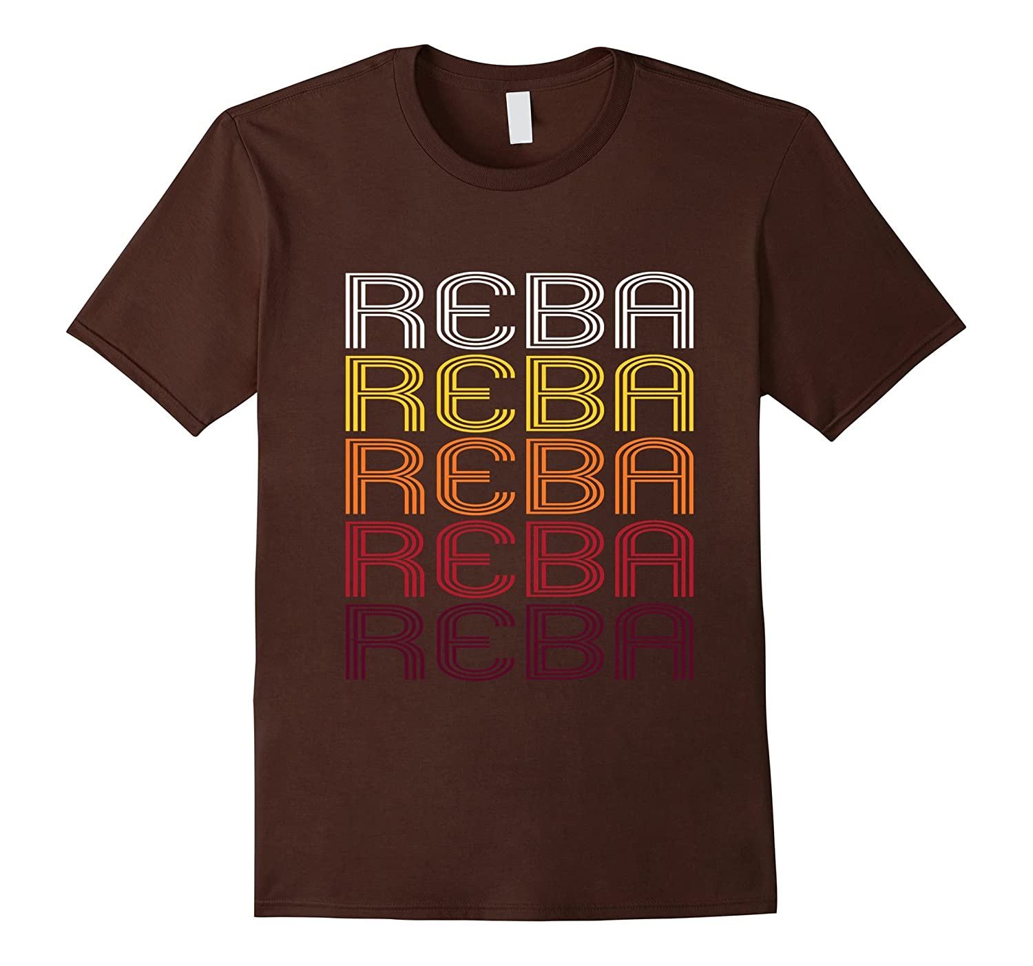 Reba Retro Wordmark Pattern - Vintage Style T-shirt-RT
