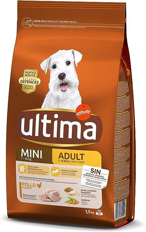 Ultima Pienso para Perros Mini Adultos con Pollo - 1.5 kg ...