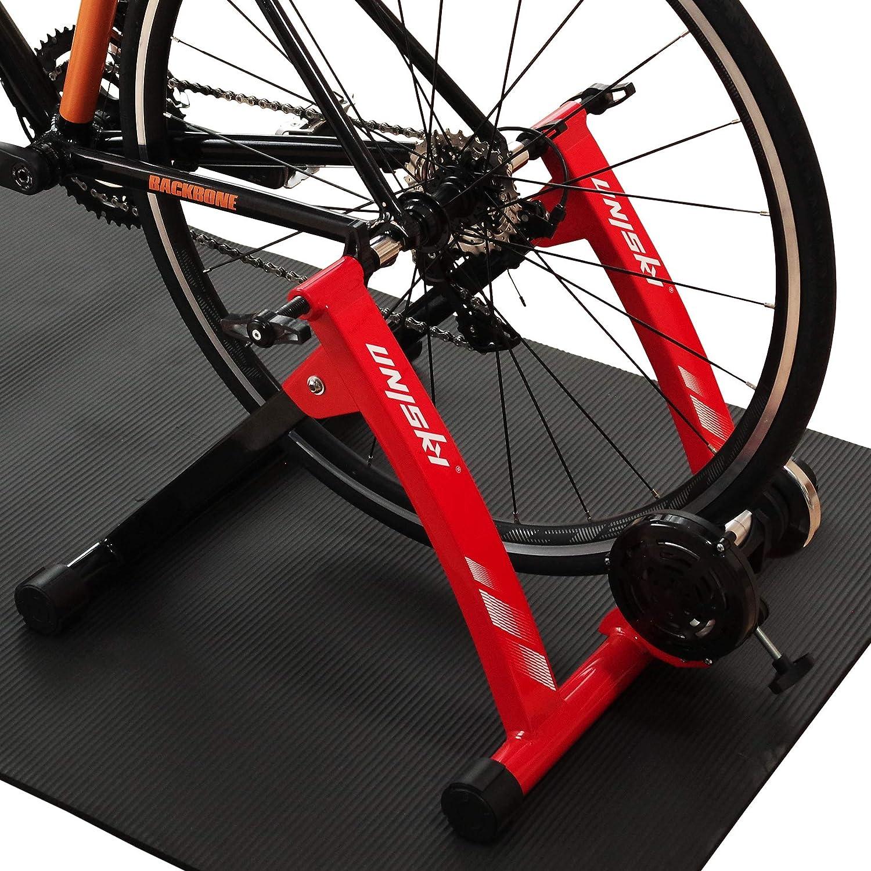 Soporte magnético para bicicleta de Unisky para hacer ejercicio en interior con bicicleta de montaña y carretera, con liberación rápida