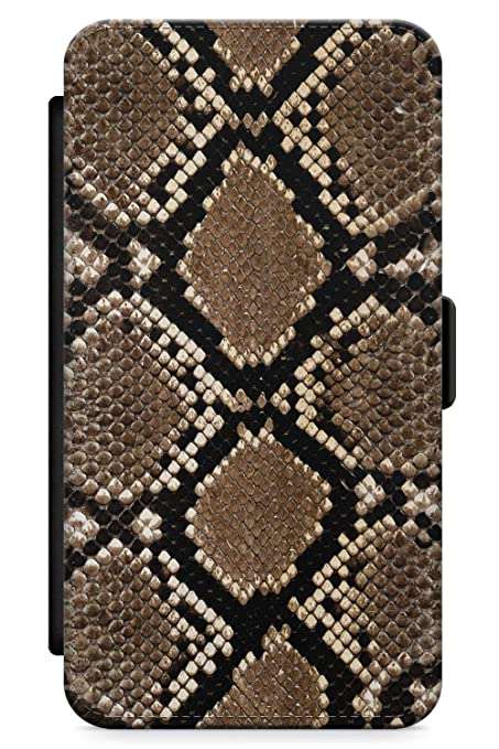 new concept 59891 d7f6e Case Warehouse iPhone 10 Case, iPhone X Case, Snakeskin Phone Case Premium  Leather Flip Wallet Card Holder Slots   Animal Print Leather Cute Girls ...