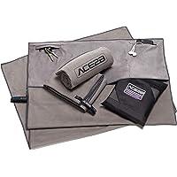 ACE2B Fitness Sport Handtuch Mikrofaser – schnelltrocknend, platzsparend, leicht / 2 Taschen mit Überzug für Gerätetraining, Fitnessstudio, Gym / 120x55cm XL groß