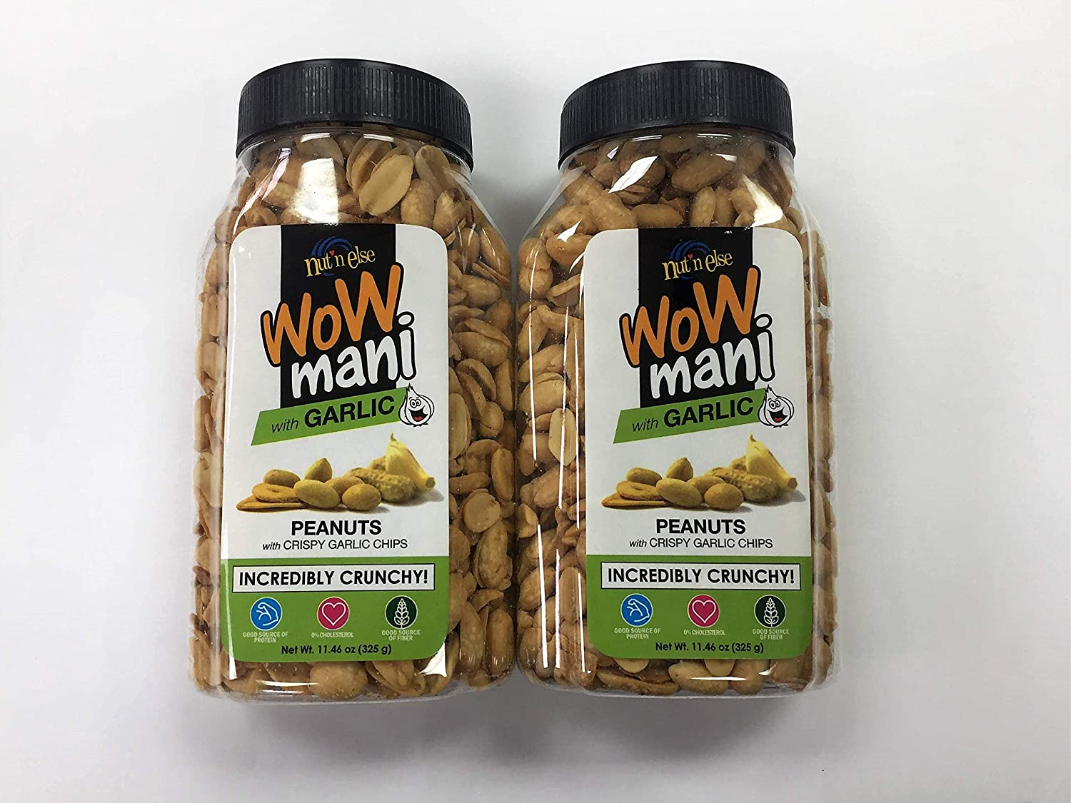 Wow Mani with Garlic Peanuts Pack of Two 11.46 Oz a Pack