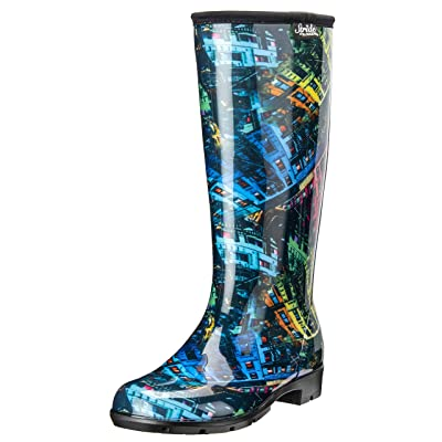 Stride by Sloggers Rain and Fashion Tall Boot with Comfort Insole, Rainbow City print, Style 5519CITY09: Garden & Outdoor