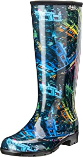 product image for Stride by Sloggers Rain and Fashion Tall Boot with Comfort Insole, Rainbow City print, Style 5519CITY09