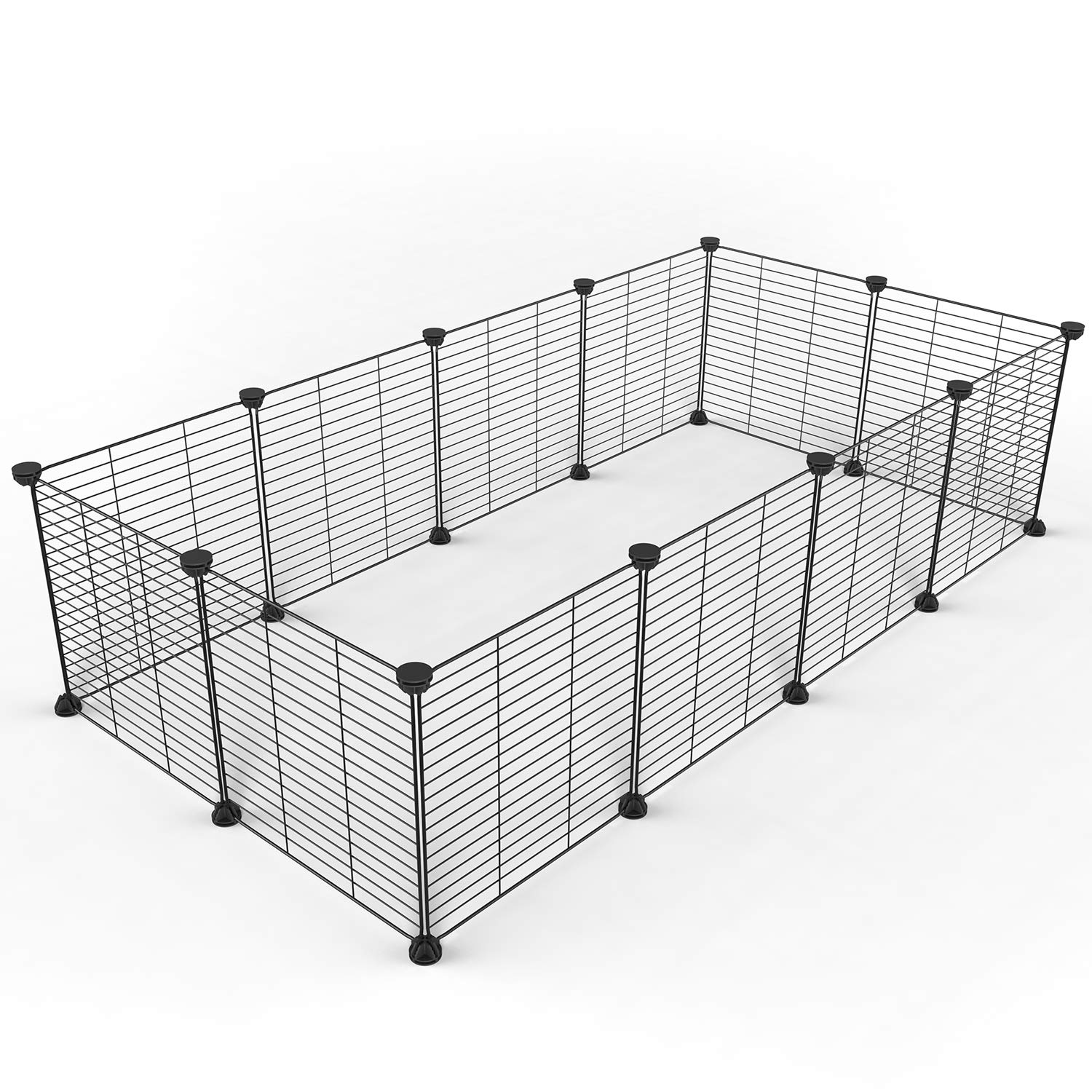 12 panels Tespo Pet Playpen Animal Fence Cage DIY Exercise Pen Crate Kennel Hutch Small Animals, Bunny, Rabbit, Puppy & Guinea Pigs, Indoor Upgrade 12 Panels