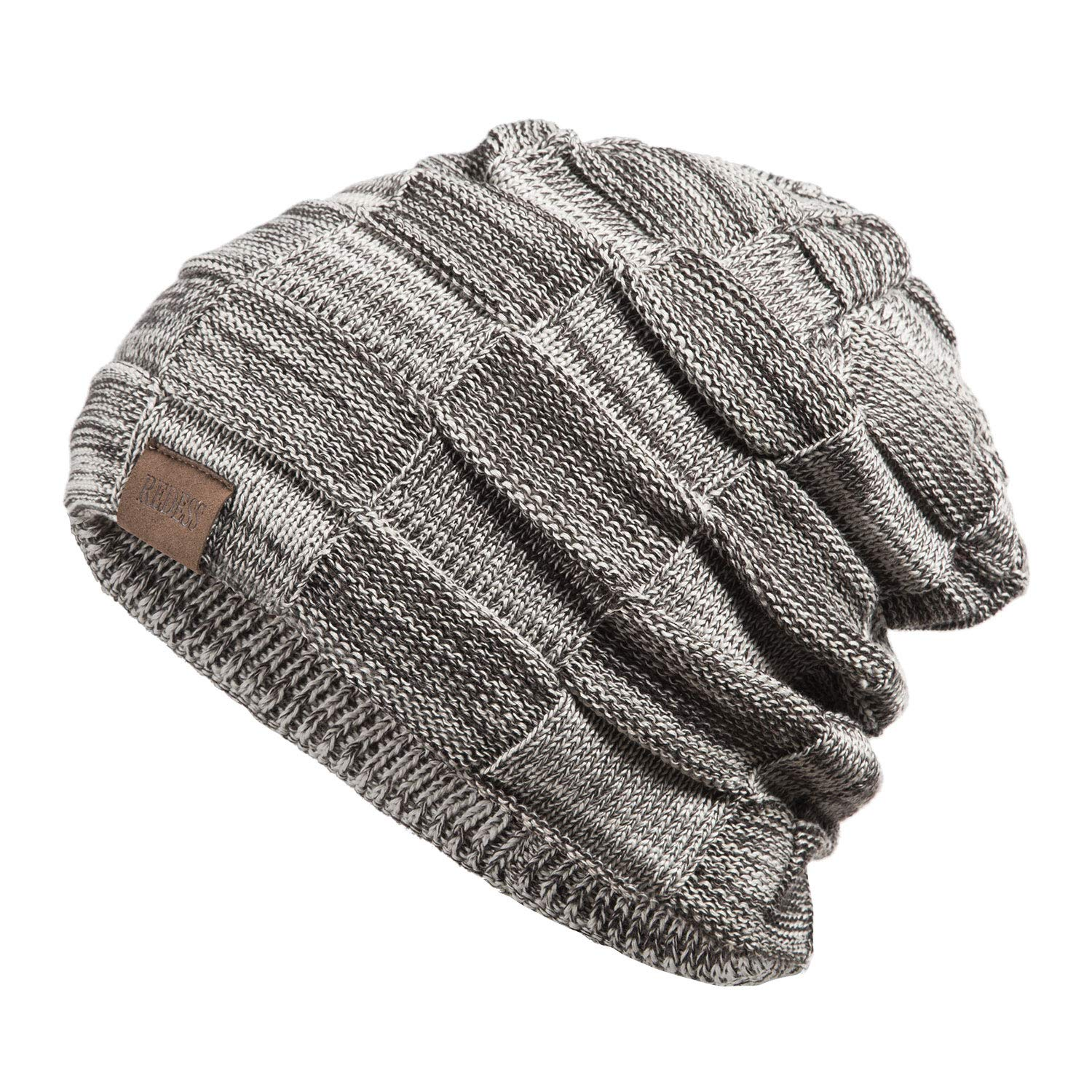 REDESS Beanie Hat for Men and Women Winter Warm Hats Knit Slouchy Thick Skull Cap nmfk8