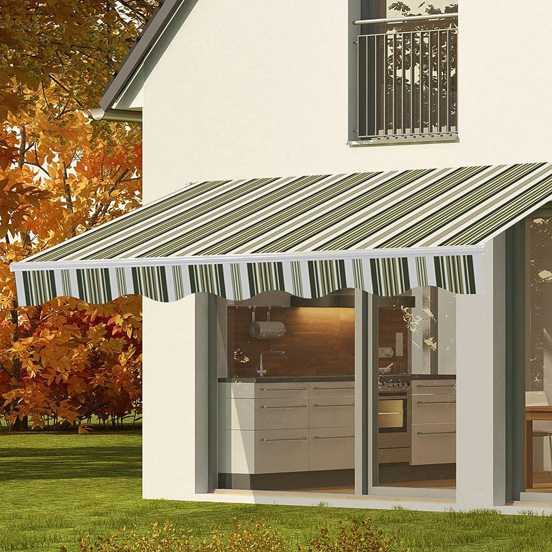 CO Z Manual Patio Shade Retractable Deck Awning Sun Shade Shelter Canopy  (8u0027 X 7u0027)