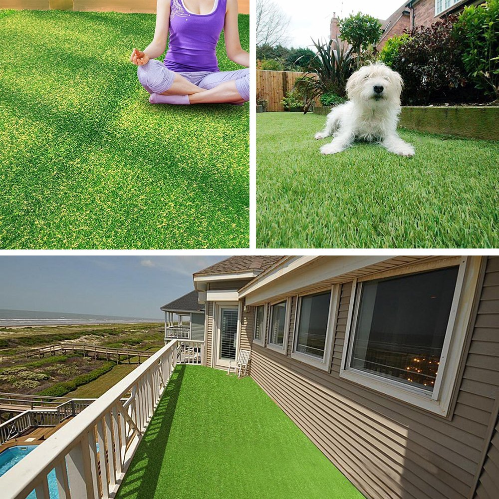 Pet Pad Artificial Grass Turf 5.5 FT x6.5 FT - Realistic Thick Synthetic Fake Grass Mat for Outdoor Garden Landscape Balcony Dog Grass Rug by PET GROW (Image #6)
