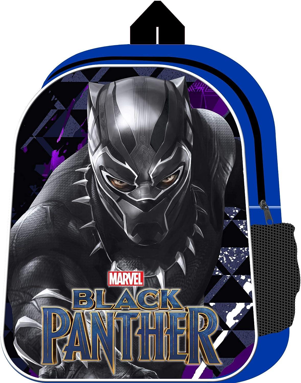 Black Panther Backpack with Mesh Side Pocket Avengers Movie School Bag Marvel Boys Rucksack for Children 31 cm x 24.5 cm