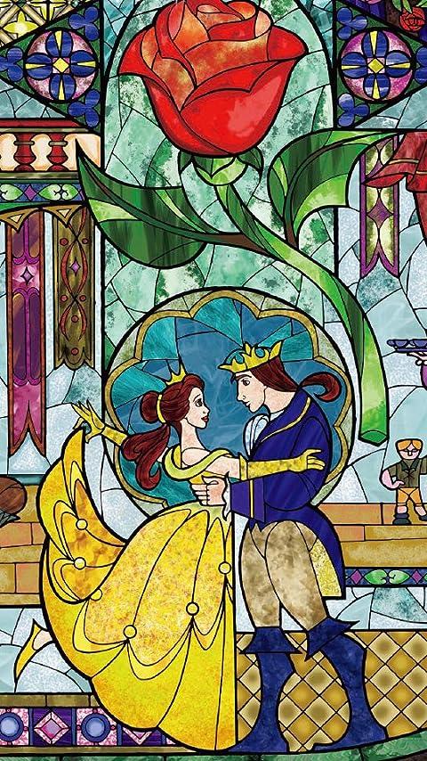 ディズニー 『美女と野獣』ステンドグラス XFVGA(480×854)壁紙画像