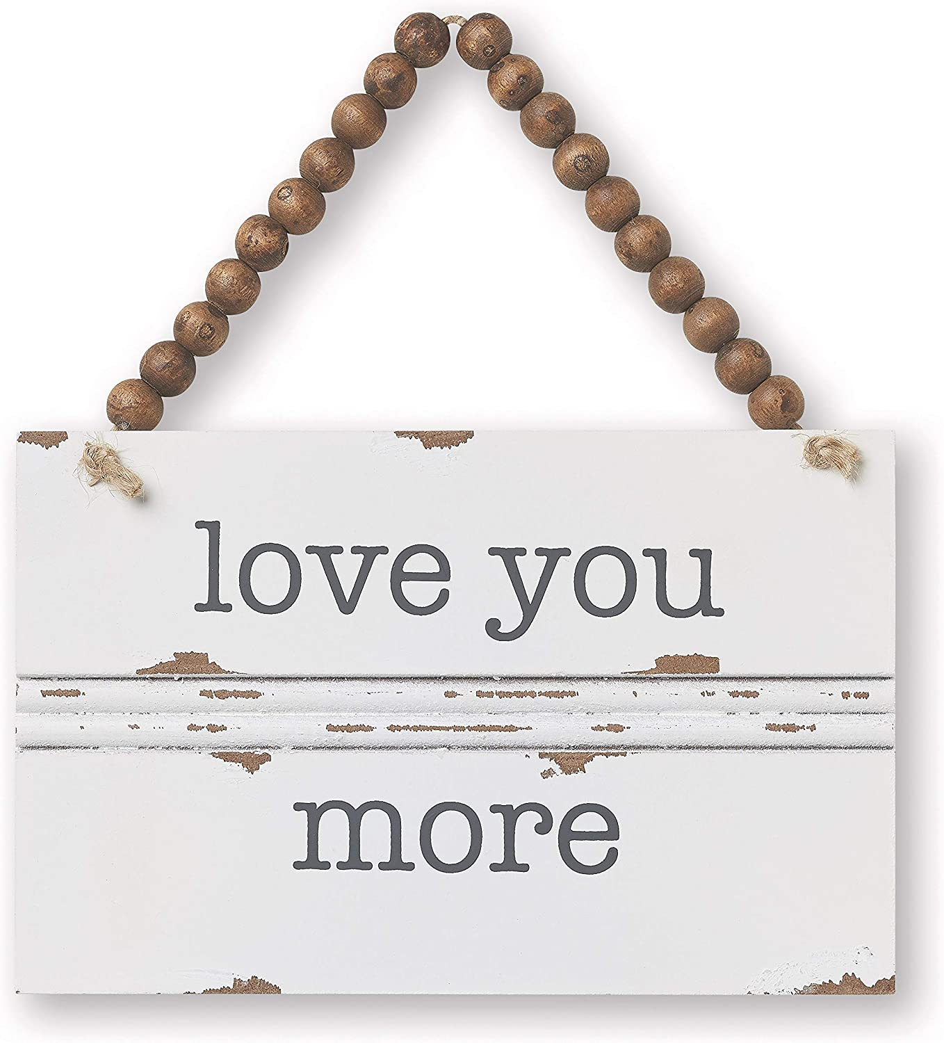 Collins Painting Love You More Hanging Wood Sign - Love Wall Decor Newlywed Gifts (Love You More)