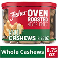 Deals on FISHER Snack Oven Roasted Never 8.75 oz Fried Whole Cashews