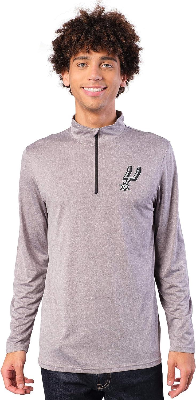 Ultra Game NBA Mens Quarter-Zip Pullover Active Shirt