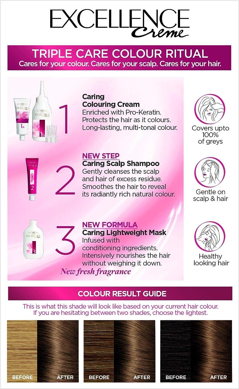 LOreal Excellence - Tinte permanente para cabello (6 ...