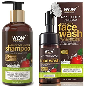 Buy WOW Apple Cider Vinegar No Parabens & Sulphate Shampoo, 300mL