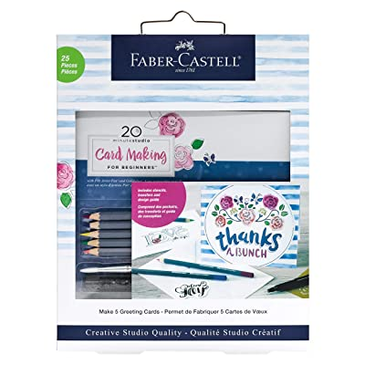 Faber-Castell 20 Minute Studio Card Making for Beginners – 5 Watercolor Pencils Included: Toys & Games