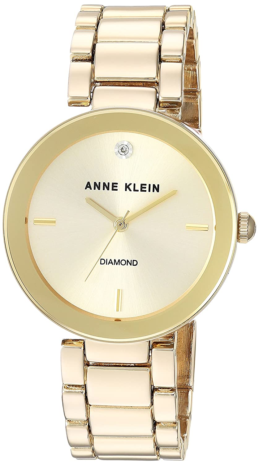 d9c2c9920ff Anne Klein Women s AK 1362CHGB Diamond Dial Gold-Tone Bracelet Watch  Anne  Klein  Amazon.ca  Watches
