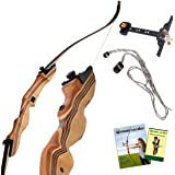 KESHES Takedown Hunting Recurve Bow and Arrow - 62 Archery Bow for Teens and Adults, 15-60lb Draw Weight - Right and…