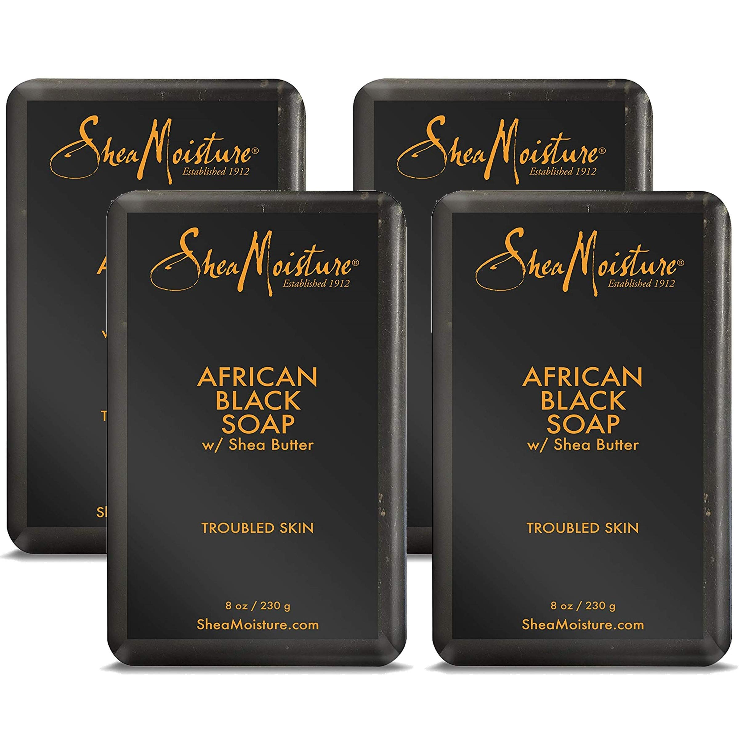SheaMoisture African Black Soap, 8 Ounces, Pack of 4 by Shea Moisture